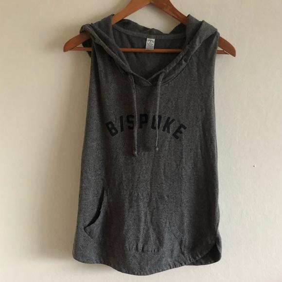195eac2d924330 Alternative Apparel Tops - Alternative apparel b spoke gray sleeveless  hoodie